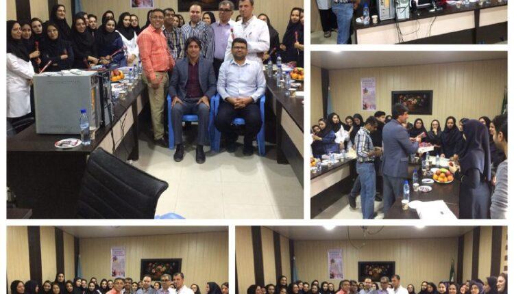 تقدیر از پرستاران توسط شهرداری و شورای شهر بندرخمیر در روز پرستار