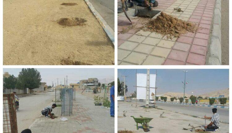 کاشت موفق بیش از ۵۰۰ نهال در سطح شهر بندرخمیر