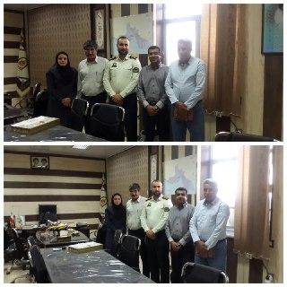 دیدار اعضای شورای اسلامی با فرمانده جدید انتظامی شهرستان بندر خمیر سرهنگ علی بخشی
