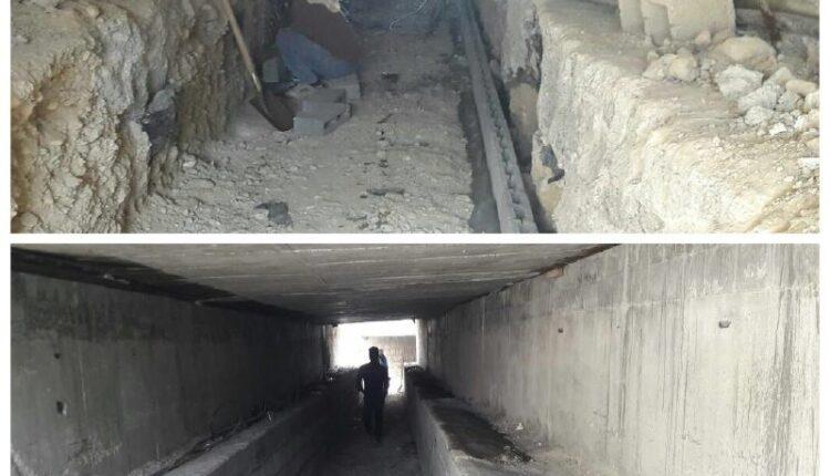 مسیر عابر پیاده زیر پل لشتغان توسط شهرداری بندرخمیر در حال احداث است.