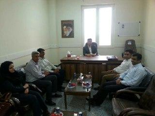 دیدار اعضای شورای اسلامی شهر خمیر با ریاست دادگستری شهرستان خمیر