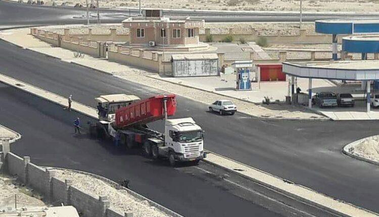 آسفالت و جدول گذاری ورودی بلوار جدید الاحداث خلیج فارس (نام پیشنهادی) در هفته دولت