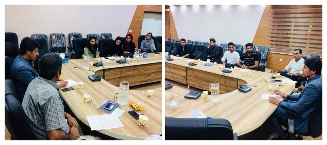 جلسه کمیته فرهنگی شهرداری بندرخمیر با کمیته دانشجویی مجتمع دینی صدرالاسلام