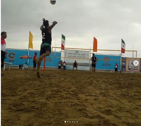 مسابقات والیبال ساحلی کارگران کشور در شهر تالابی بندرخمیر برگزار شد