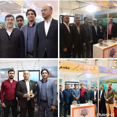 بازدید مسئولین سطح اول استان از غرفه شهر تالابی بندرخمیر در نمایشگاه شهر ایده آل